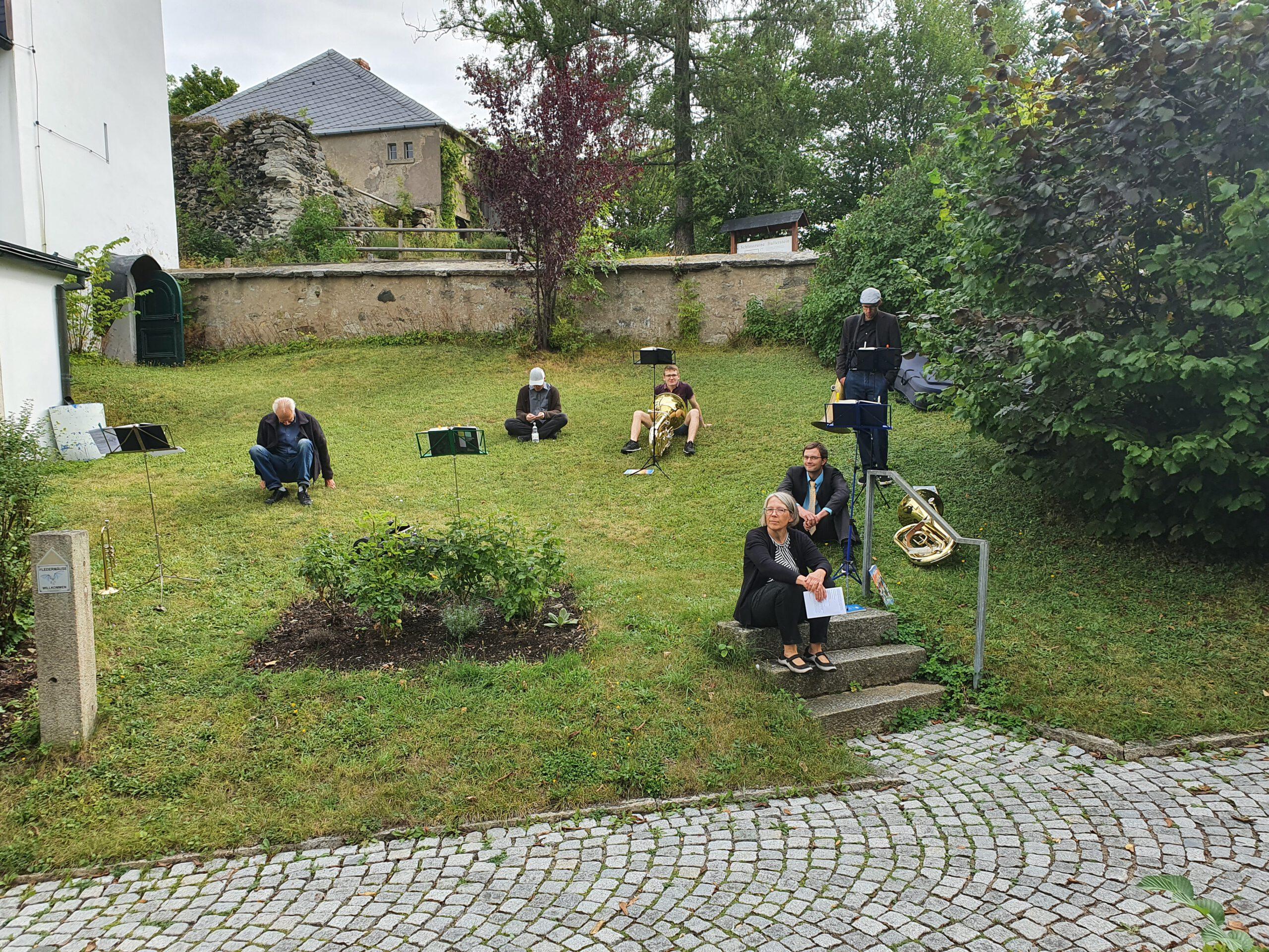 Auftritt zur Konfirmation in Hallerstein