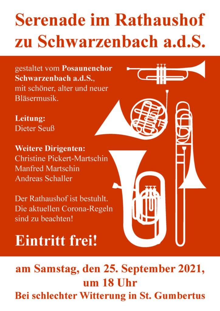 Plakat zur Serenade